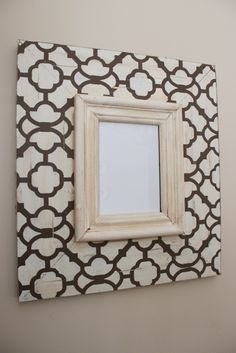Moroccan Wood Distressed Picture Frame 5x7 Hand painted, Chocolate and Cream LOVE IT