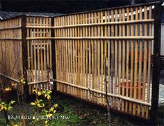 Bamboo Builders Northwest: Open Split Fence