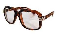 Old School Vintage Squared Clear Lens Eyeglasses