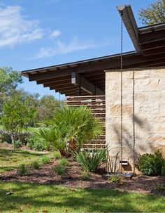 jz: like the gutter extension and rain chain   Expert Advice: American-Made Building Essentials, Courtesy of Lake|Flato Architects - Remodelista