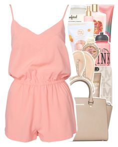 """June 9, 2016"" by senayaa ❤ liked on Polyvore featuring Victoria's Secret, Victoria's Secret PINK, Me! Bath, Rolex, MICHAEL Michael Kors, Mizani, Charlotte Russe and NLY Trend"