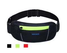 Running Belt Wallet, Running Waist Pack Pouch for Men and Women (Yellow). Waist pack Fits Phones: Running waist pack fits all iPhones including iPhone 5, iPhone 6, iPhone 6 Plus, Samsung S4, S5 ect. There is a earphone cord hole to make sure you can enjoy the music on your phone. It's ideal for running, jogging, hiking, and workouts. Material: The front surface is neoprene material, waterproof treated zipper, the back is mesh . Adjustable Size: The belt comes with adjustable buckle, it…