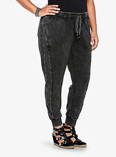 Open Stitch Active Pant, CHARCOAL HEATHER