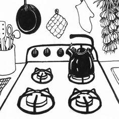 """Illustrations by Richard Houser for Barbara Kingsolver's """"Animal, Vegetable, Miracle"""".  www.richardhouser.com"""