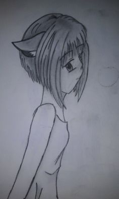Girl with cat ears.