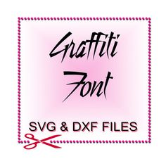 SVG Files for Silhouette  Font Design Files For Use by SVGFILE