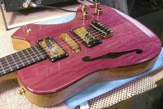 Supernatural guitar by Neil Smith hand made from scratch NO CNC