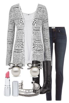 """""""Discouragement and failure are two of the surest stepping stones to success."""" by musichedgehog12 ❤ liked on Polyvore featuring Paige Denim, maurices, MM6 Maison Margiela and HoneyBee Gardens"""