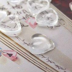 heart shape glass cabochons