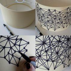 Sharpie Pen Lampshade DIY
