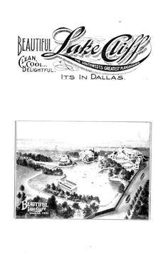 Lake Cliff Amusement Park, Oak Cliff, Dallas, 1906