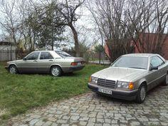 Twice Benz in same smoke Silver colour. C124&W201
