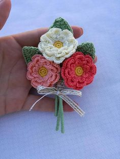 Small crochet bouquet