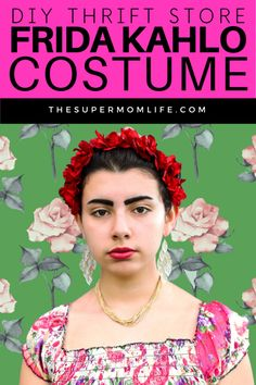 An inexpensive and fun costume idea. We got everything we need for a DIY Frida Kahlo costume at our local thrift store for less than $5.