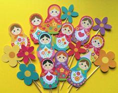 Digital descargar muñecas rusas de grandes a pequeño A4 por malobi