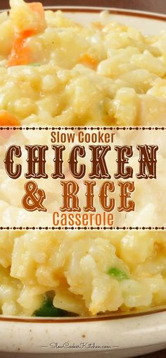 chicken kitchen cooker crock rice slow pot and Crock Pot Chicken and Rice Slow Cooker KitchenYou can find Crock pot chicken recipes and more on our website Crock Pot Chicken And Rice Recipe, Chicken And Rice Crockpot, Chicken Rice Casserole, Chicken Cooker, Chicken Recipes, Crock Pot Rice, Crock Pots, Keto Chicken, Crock Pot Pork