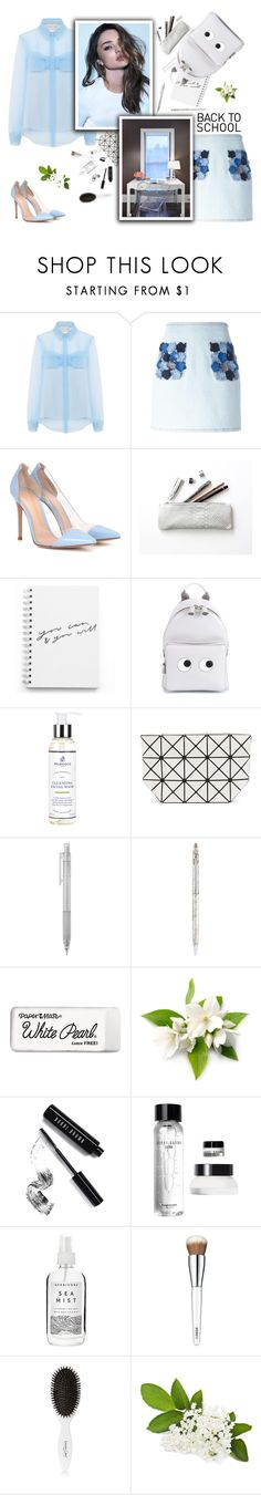 """Go Back-to-School Shopping!"" by fashionbrownies ❤ liked on Polyvore featuring Christopher Kane, Fendi, Gianvito Rossi, Anya Hindmarch, Murdock London, Kerr®, Bao Bao by Issey Miyake, Tiffany & Co., Paper Mate and Bobbi Brown Cosmetics"