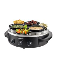 A Crockpot Triple Dipper w/Lazy Susan! Must get one of these to stat! This is the true mark of a Hostess With The Mostest :) Best Slow Cooker, All I Ever Wanted, Thing 1, Kitchen Gadgets, Kitchen Items, Kitchen Dining, Kitchen Decor, Dining Room, Cool Kitchens
