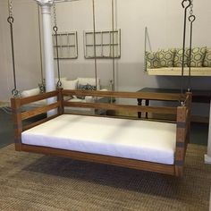Porch Swing: The Teak Swing Bed Multi-Color by LowcountrySwingBeds (bedswing)