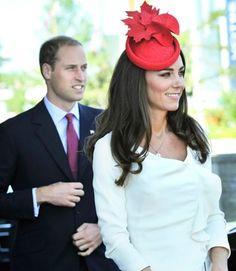 Kate's hats make me wish I were British. Hats are so fun! Rock it Kate!