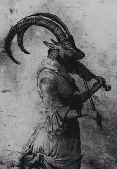 art Black and White dark strange goat violin baphomet pagan dark art Baphomet, Arte Horror, Horror Art, Dark Fantasy Art, Art Sombre, Art Sinistre, Daughter Of Smoke And Bone, Satanic Art, Dark Artwork