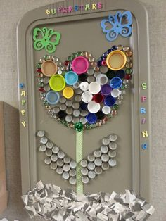 Kindergartens 3 Rs: Respect, Resources and Rants: Flower Power: A Recycling Project