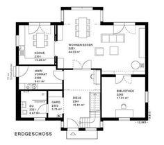 kern haus familienhaus signum grundriss erdgeschoss satteldach 9x12 pinterest see best. Black Bedroom Furniture Sets. Home Design Ideas