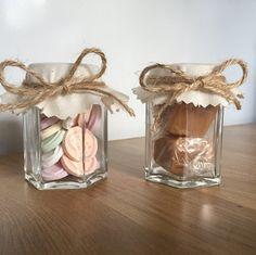 12 Candy Jars/Sweet Jars/Wedding Favour Jars/Jam by AliceQueenie Wedding Favour Jars, Sweet Jars, Bridal Shower, Baby Shower, Jam Jar, Candy Jars, Twine, Favors, Handmade