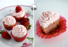 Strawberry Cupcakes! Cupcakes alle fragole!