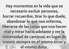 〽️ Hay momentos en la vida en que tenemos que dejar de insistir en el mismo error... y el mismo dolor!