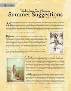 Wisdom from Our Ancestors—Summer Activities — By Susan Lyttek Molly Green Magazine FREE Online!  - Summer 2015 - Page 68