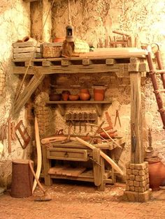 old Nazareth Village Christmas Nativity Scene, A Christmas Story, Crib Accessories, Miniture Things, Fairy Houses, Miniature Dolls, Art Boards, Dollhouse Miniatures, Diy And Crafts