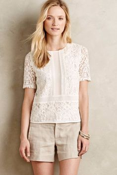 8e8e8e81f20ca8 Details about Anthropologie Ellis Lace Top By Sunday in Brooklyn - Sz XS,  S, M, L (White)