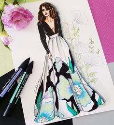 Fashion sketches 350295677267266955 - Fashion Design Sketches Illustrations Inspirational 37 Ideas For 2019 Source by lolopocahantas Dress Design Drawing, Dress Design Sketches, Fashion Design Drawings, Dress Drawing, Dress Designs, Fashion Drawing Dresses, Fashion Illustration Dresses, Fashion Illustrations, Drawing Fashion