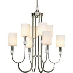 Thomasville Lighting Splendid Collection 8-Light Brushed Nickel Chandelier-P4680-09 at The Home Depot