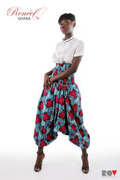 I'm going to make myself a pair of these pants! African Shop, African Models, African Lace, African Style, African Inspired Clothing, African Print Fashion, African Prints, African Dresses For Women, African Women