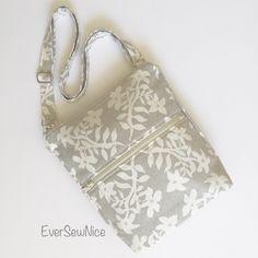 Crossbody - Messenger Bag - Laura Ashley - handmade - fabric bag - one of a kind by EverSewNice on Etsy