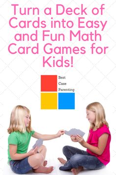 A deck of cards can provide easy and simple Math fun for families! These card games for kids will have your kindergarten child or older learning Math without realising! Full instructions for playing included! Easy Math Games, Math Card Games, Card Games For Kids, Playing Card Games, Fun Math, Kindergarten Goals, Different Parenting Styles, Number Games, Simple Math