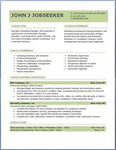 resume objective statement examples marketing for