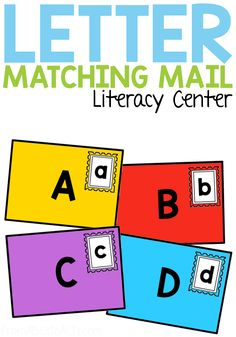 Practice matching upper and lowercase letters of the alphabet with this fun printable mail letter matching activity for preschoolers and kindergartners! Makes a fantastic literacy center and is a great way to work on fine motor skills! Quiet Time Activities, Alphabet Activities, Preschool Activities, Space Activities, Educational Activities, Upper And Lowercase Letters, Writing Letters, Community Helpers Preschool, Dramatic Play Centers