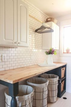 48 Modern Farmhouse Laundry Room Decor Ideas