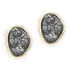 Alexia Crawford Juniors Cracked Stone Stud Earrings  #VonMaur #SilverandWhite