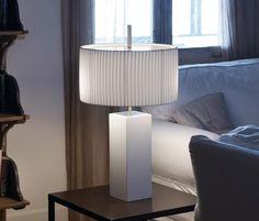 Mani stołowa (Klosz plisowany biały, Duża) - Bover | Designerskie Lampy & Oświetlenie LED