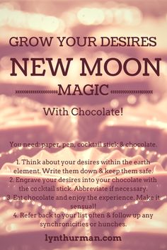 A little magic (with chocolate) for the new moon in Taurus - easy and very enjoyable :-)