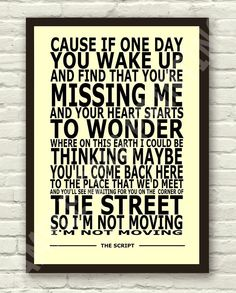 The-Script-The-Man-Who-Cant-Be-Moved-Lyric-Art-Poster-Print-A4-A3-6x4-10x15