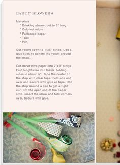 DIY blowers; Can be found on Martha stewart website too