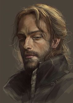 portrait inspiration for male RPG character with long, fair hair could be a male noble? Fantasy Character Design, Character Creation, Character Concept, Character Art, Concept Art, Fantasy Male, Fantasy Rpg, Medieval Fantasy, Fantasy Portraits