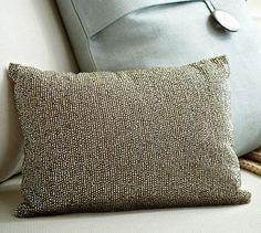 Rustic Sparkle Pillow #potterybarn