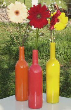 how do you put lights in wine bottles   Wedding Blog: DIY Wine Bottle Wedding Decor