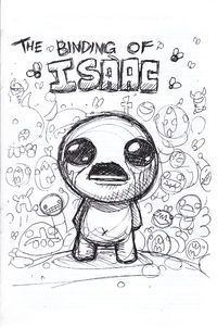 A 40-page artbook featuring Edmund McMillen's design sketches of The Binding of Isaac was included in the Unholy Edition of the game. The artwork includes various Bosses, Items, Monsters, etc.
